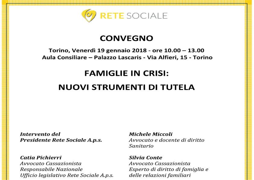Locandina Convegno Rete Sociale 19 gennaio 2018
