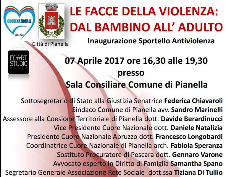 Convegno7aprile 2017-Le facce della violenza